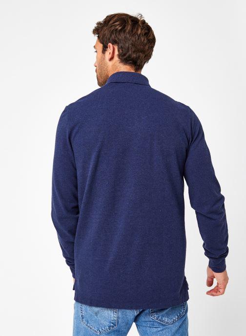 Vêtements Polo Ralph Lauren Polo ML Classic Pony Knit Bleu vue portées chaussures