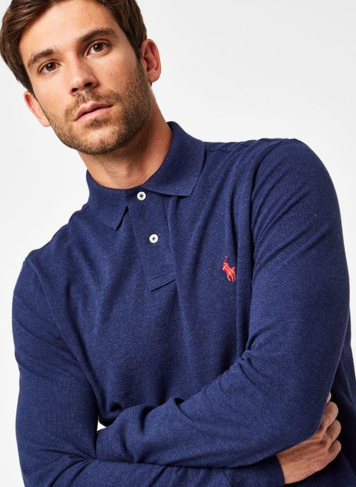 Vêtements Polo Ralph Lauren Polo ML Classic Pony Knit Bleu vue face