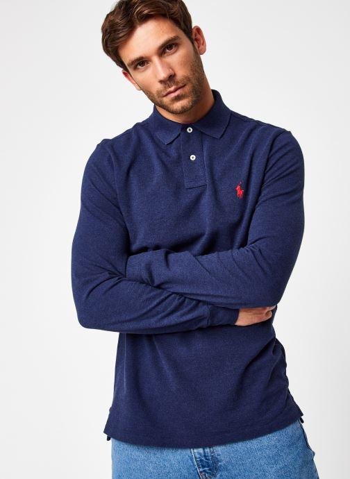 Vêtements Polo Ralph Lauren Polo ML Classic Pony Knit Bleu vue droite