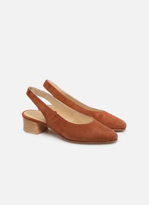 Zapatos de tacón Anne Thomas Michèle Slingback Marrón vista 3/4