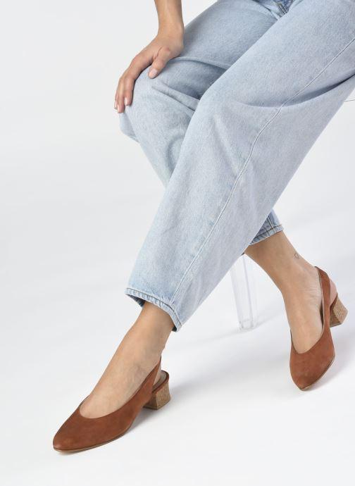 Zapatos de tacón Anne Thomas Michèle Slingback Marrón vista de abajo