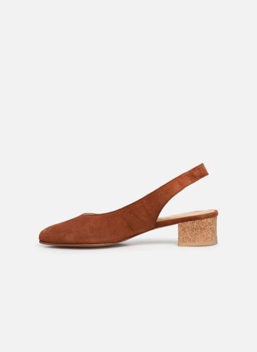 Zapatos de tacón Anne Thomas Michèle Slingback Marrón vista de frente