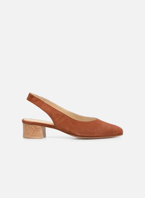 Zapatos de tacón Anne Thomas Michèle Slingback Marrón vistra trasera