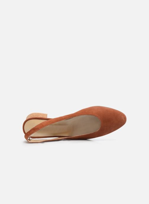Zapatos de tacón Anne Thomas Michèle Slingback Marrón vista lateral izquierda