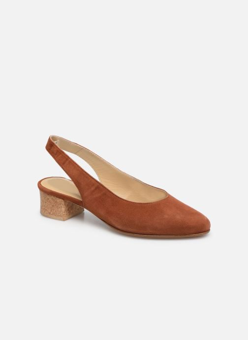 Zapatos de tacón Anne Thomas Michèle Slingback Marrón vista de detalle / par