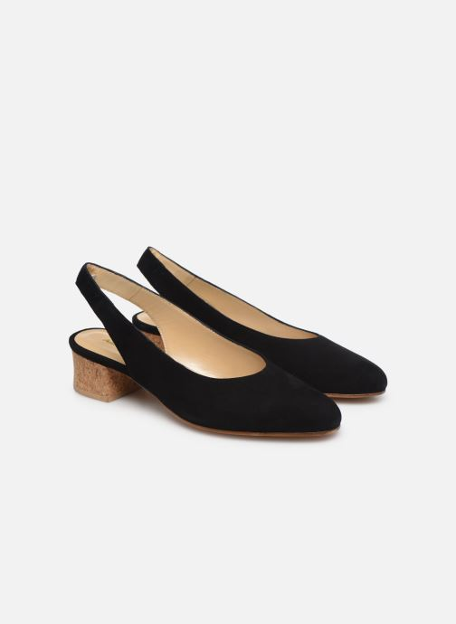 Zapatos de tacón Anne Thomas Michèle Slingback Negro vista 3/4