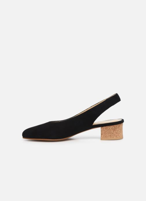 Zapatos de tacón Anne Thomas Michèle Slingback Negro vista de frente