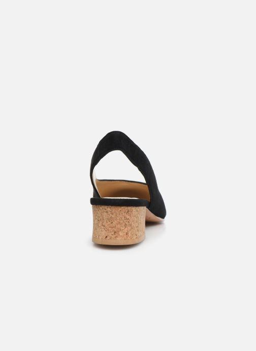 Zapatos de tacón Anne Thomas Michèle Slingback Negro vista lateral derecha