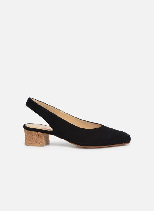 Zapatos de tacón Anne Thomas Michèle Slingback Negro vistra trasera