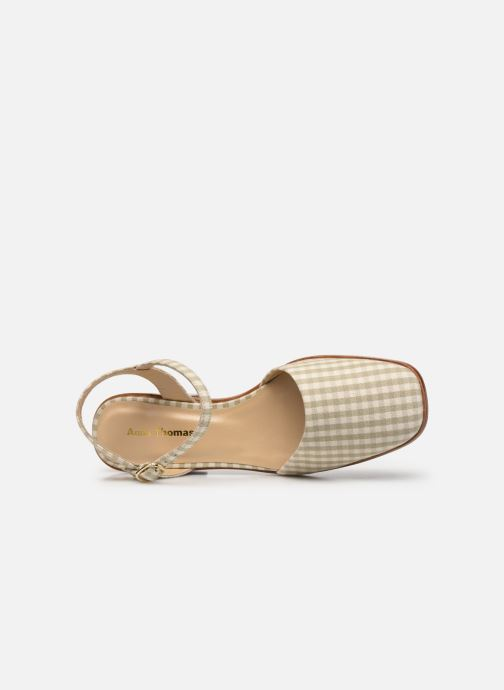 Sandali e scarpe aperte Anne Thomas Morris Buckle Beige immagine sinistra