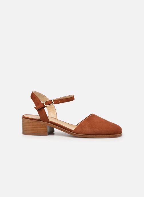 Sandales et nu-pieds Anne Thomas Morris Buckle Marron vue derrière