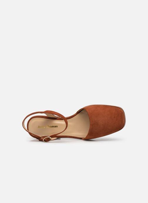 Sandales et nu-pieds Anne Thomas Morris Buckle Marron vue gauche