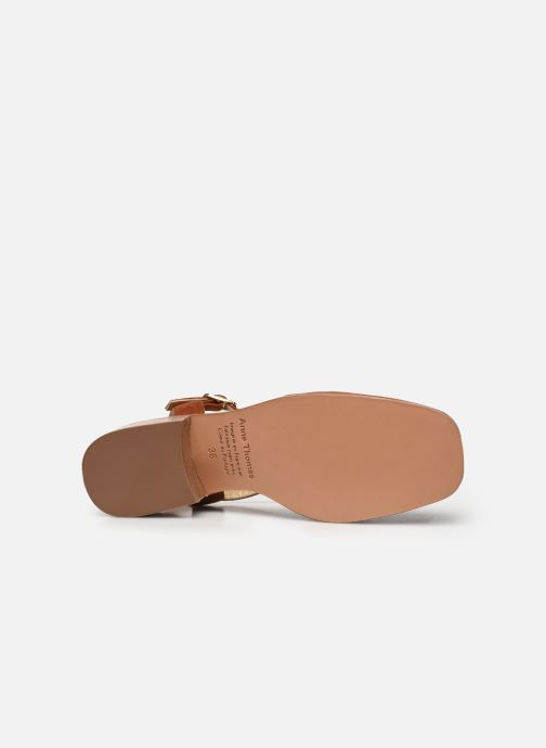 Sandales et nu-pieds Anne Thomas Morris Buckle Marron vue haut