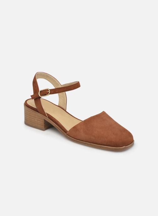 Sandales et nu-pieds Anne Thomas Morris Buckle Marron vue détail/paire