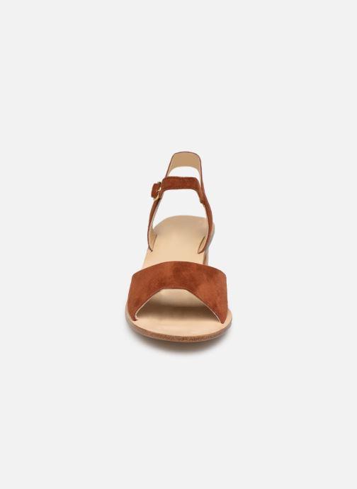 Sandales et nu-pieds Anne Thomas Emily Sandal Marron vue portées chaussures