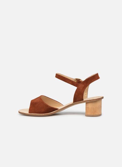 Sandales et nu-pieds Anne Thomas Emily Sandal Marron vue face