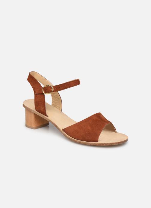 Sandales et nu-pieds Anne Thomas Emily Sandal Marron vue détail/paire