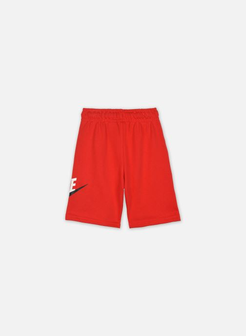 Vêtements Nike B Nsw Club + Hbr Short Ft Rouge vue portées chaussures