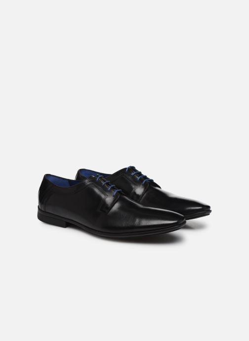 Zapatos con cordones Azzaro AVOLD Negro vista 3/4