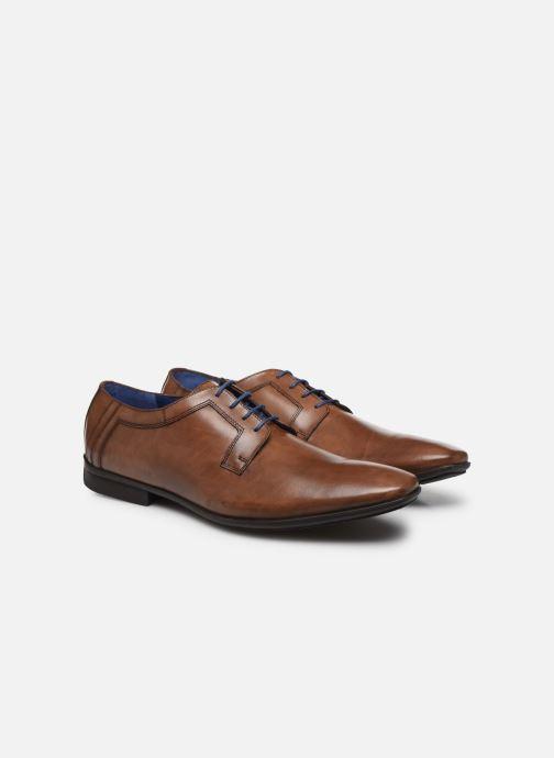 Zapatos con cordones Azzaro AVOLD Marrón vista 3/4