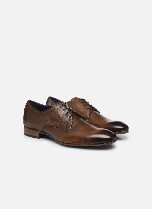 Zapatos con cordones Azzaro VALCOUR Marrón vista 3/4