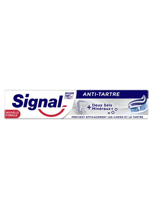 Produits d'entretien Signal Dentifrice anti tartre - Le tube de 75ml Blanc vue détail/paire