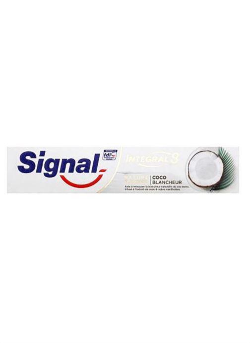 Produits d'entretien Signal Dentifrice coco blancheur - Nature Eléments - Le tube de 75 ml Blanc vue détail/paire