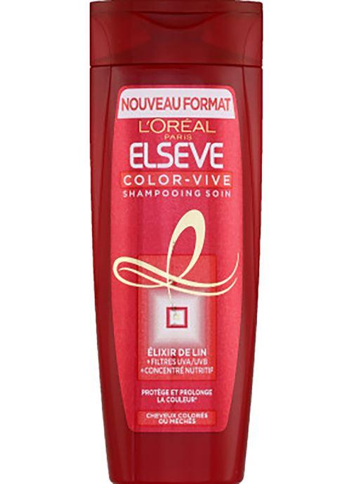 Produits d'entretien Elsève Shampooing soin, cheveux colorés ou méchés - Le flacon de 290ml Blanc vue détail/paire