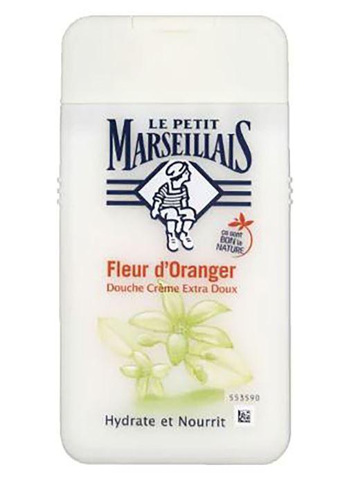 Produits d'entretien Le Petit Marseillais Gel douche fleur d'oranger - Le tube de 250ml Blanc vue détail/paire