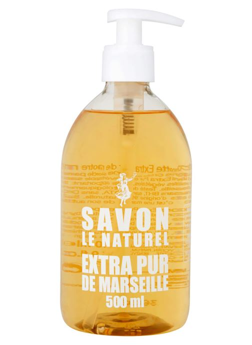 Produits d'entretien Le Naturel Savon liquide extra pur de Marseille - Le flacon de 500 ml Blanc vue détail/paire