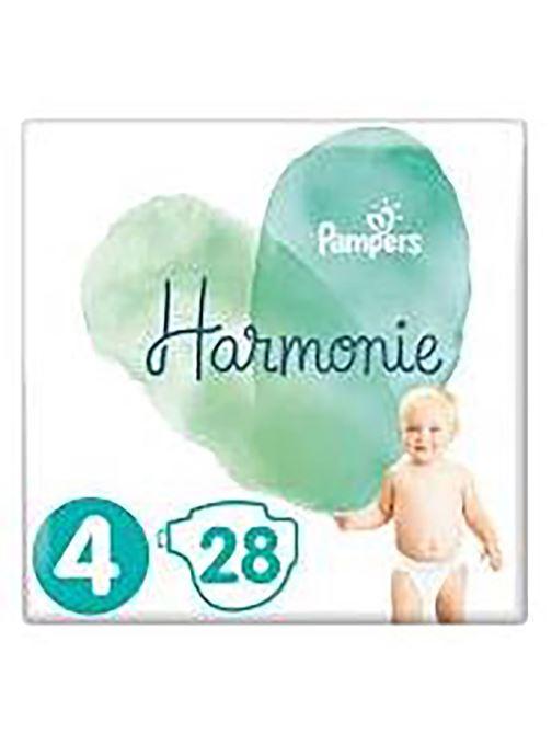 Produits d'entretien Pampers Pampers Harmonie T4 Geant X28 Blanc vue détail/paire