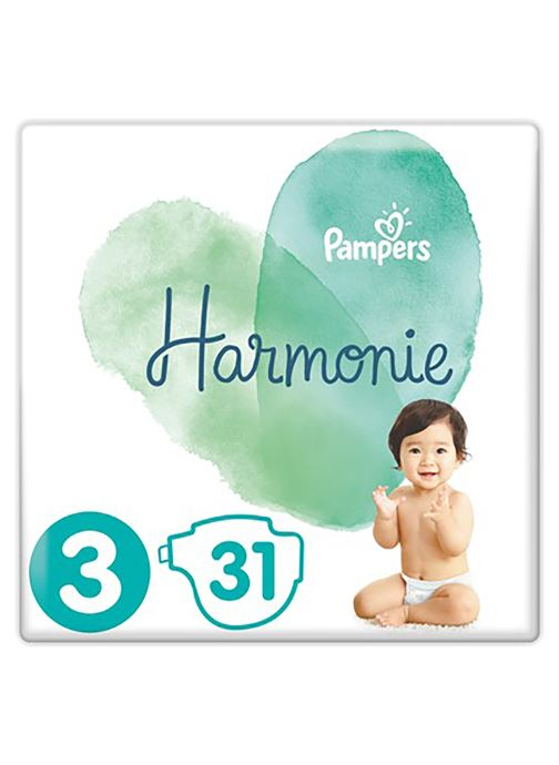 Produits d'entretien Pampers Pampers Harmonie T3 Geant X31 Blanc vue détail/paire