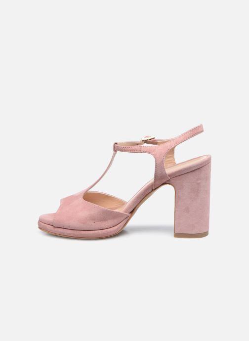 Sandalen Minelli F93 222/VEL Roze voorkant