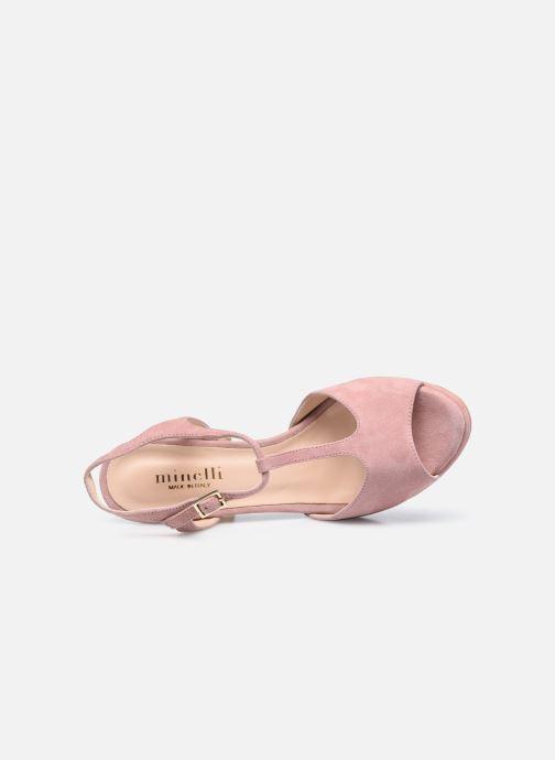 Sandaler Minelli F93 222/VEL Pink se fra venstre