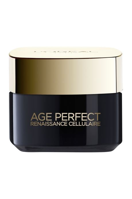 Produits d'entretien L'Oréal Paris - Age Perfect - Dermo Expertise Age Perfect Renaissance Celullaire Crème De Jour Blanc vue portées chaussures
