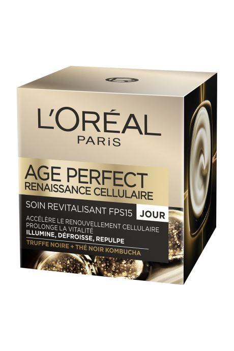 Produits d'entretien L'Oréal Paris - Age Perfect - Dermo Expertise Age Perfect Renaissance Celullaire Crème De Jour Blanc vue détail/paire