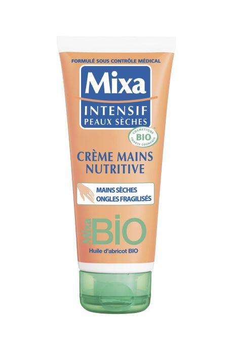 Produits d'entretien Mixa Bio Crème Mains Et Ongles Blanc vue détail/paire