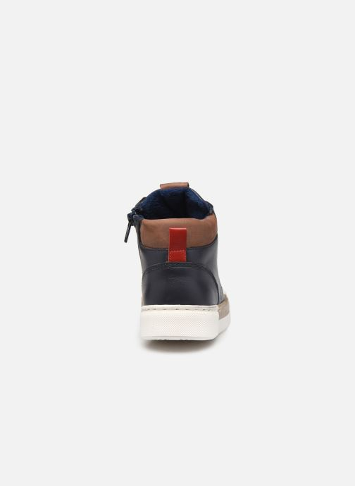 Sneakers Rose et Martin STEEVE LEATHER Blauw rechts