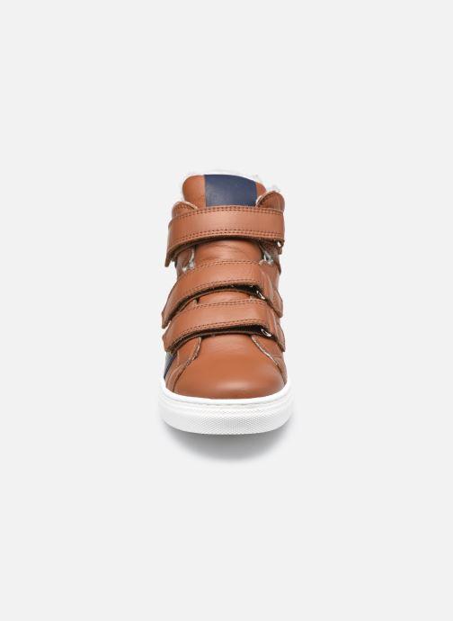 Baskets Rose et Martin SEAN LEATHER Marron vue portées chaussures
