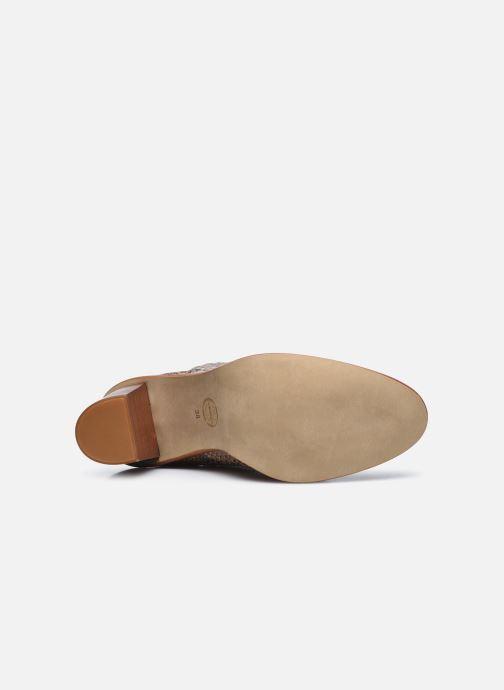 Bottines et boots Made by SARENZA Sartorial Folk Boots #4 Beige vue haut