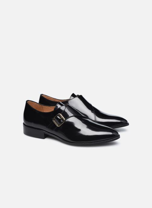 Schuhe mit Schnallen Made by SARENZA Urban Smooth Souliers #1 schwarz ansicht von hinten