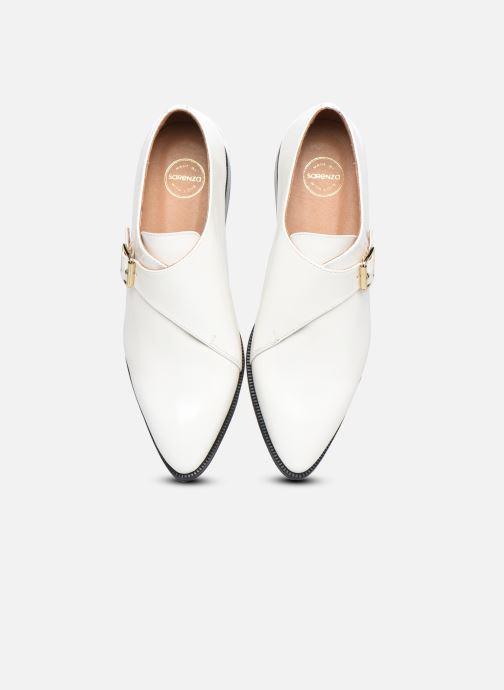 Zapato con hebilla Made by SARENZA Urban Smooth Souliers #1 Blanco vista del modelo