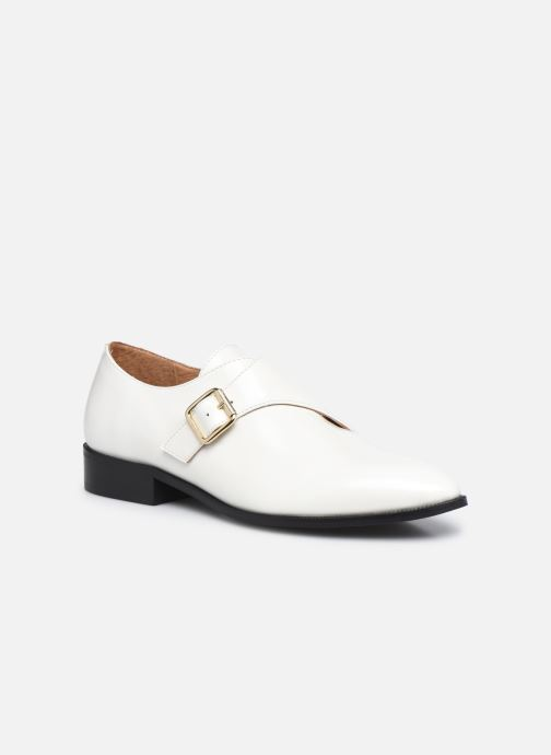 Zapato con hebilla Made by SARENZA Urban Smooth Souliers #1 Blanco vista lateral derecha