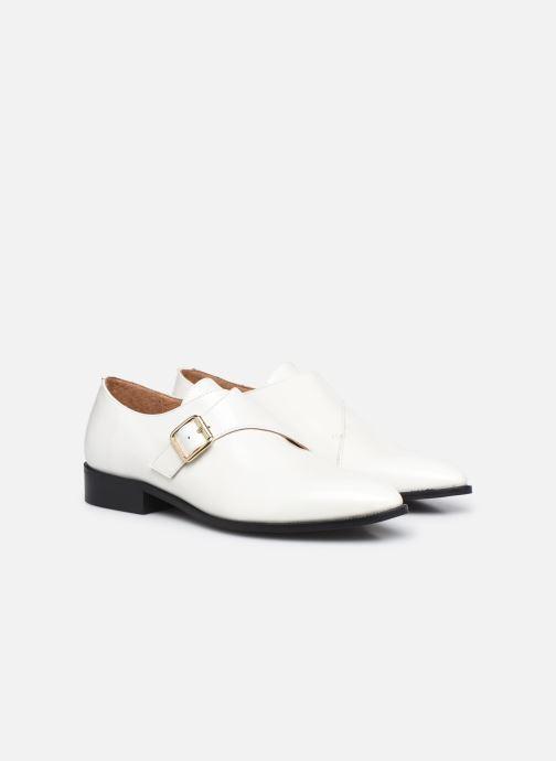 Zapato con hebilla Made by SARENZA Urban Smooth Souliers #1 Blanco vistra trasera