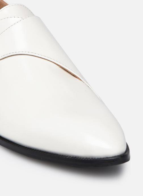 Zapato con hebilla Made by SARENZA Urban Smooth Souliers #1 Blanco vista lateral izquierda