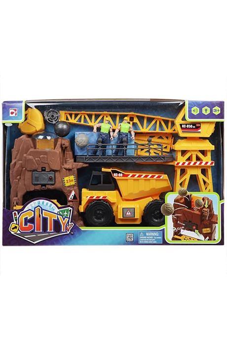 Divers City CITY - Set de jeu géant Mine Multicolore vue derrière