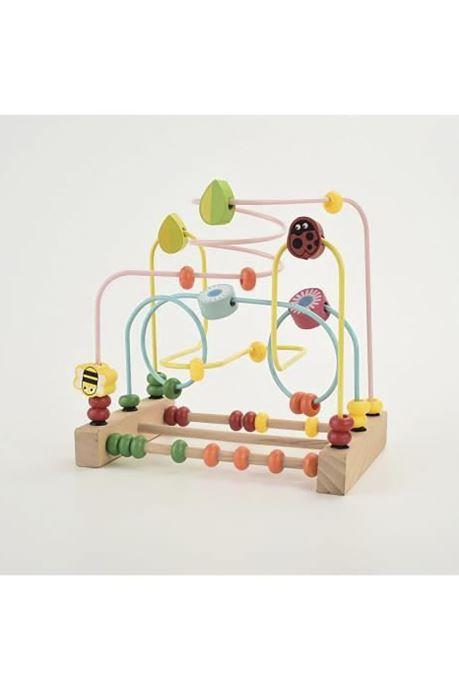 Divers Colorichy Boulier labyrinthe bois Multicolore vue détail/paire