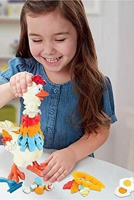 Divers Hasbro Play-Doh plumes en folie Multicolore vue face