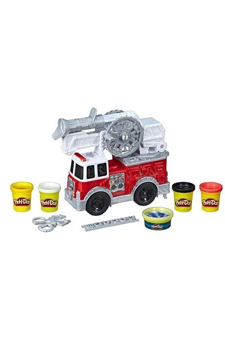 Divers Hasbro Play-Doh Camion Pompier Multicolore vue portées chaussures
