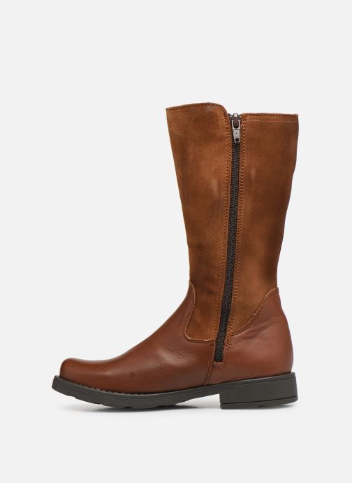 Bottes Rose et Martin BETTY LEATHER Marron vue face